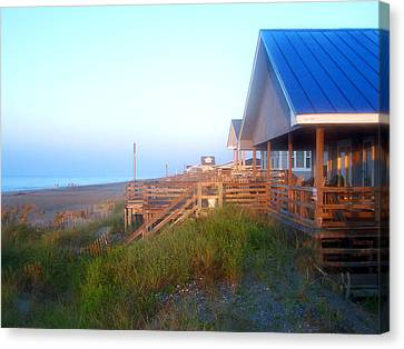 Canvas Print featuring the photograph Outerbanks Sunrise At The Beach by Sandi OReilly