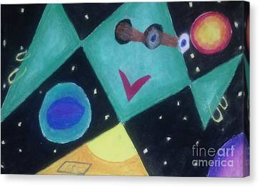 Terrestrial Sphere Canvas Print - Outermost Being Looking In by Brenda Robinson
