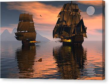 Outgunned Canvas Print by Claude McCoy