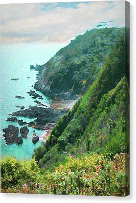 Canvas Print featuring the photograph South End Of Guernsey by Bellesouth Studio