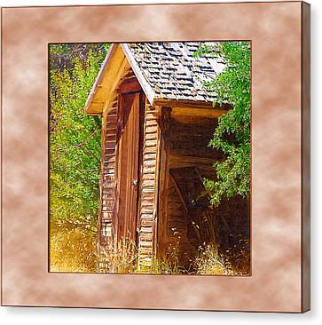Canvas Print featuring the photograph Outhouse 1 by Susan Kinney