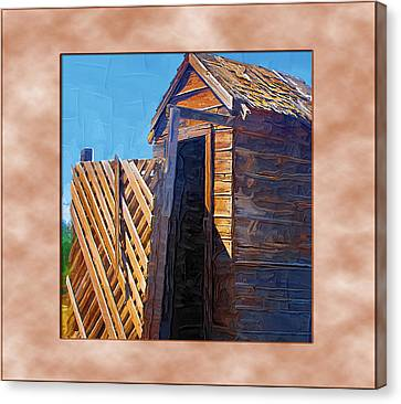 Canvas Print featuring the photograph Outhouse 2 by Susan Kinney