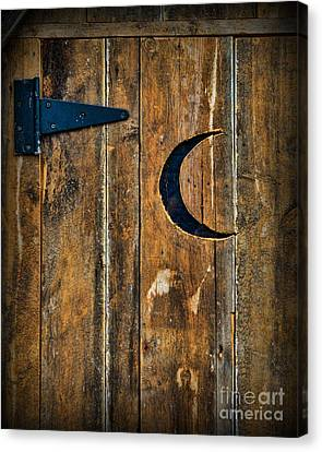 Outhouse Door  Canvas Print by Paul Ward