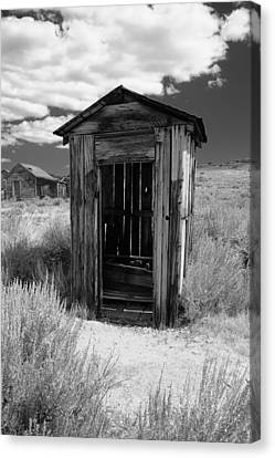 Arrest Canvas Print - Outhouse In Ghost Town by George Oze