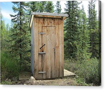 Outhouse  Canvas Print by Lucinda VanVleck