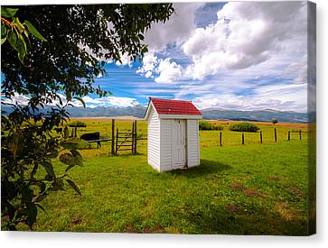 Outhouse Canvas Print by Tim Reaves