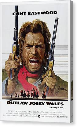 Outlaw Josey Wales Theater Lobby Poster  1976 Canvas Print by Daniel Hagerman
