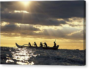Outrigger Canoe Canvas Print by Vince Cavataio - Printscapes