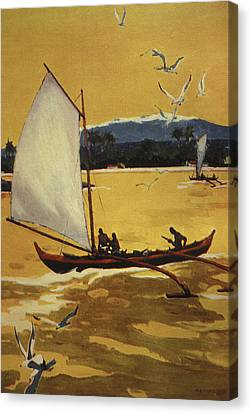 Outrigger Off Shore Canvas Print