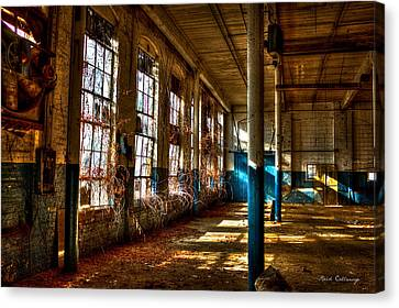 Outside Coming In The Vines Of Time Mary Leila Cotton Mill Greensboro Ga Canvas Print by Reid Callaway