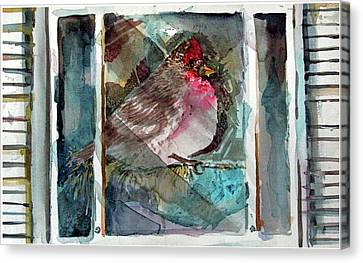Outside Icy Inside Winter Canvas Print by Mindy Newman