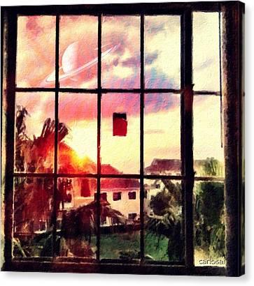 Outside My Window... Canvas Print by Carlos Avila
