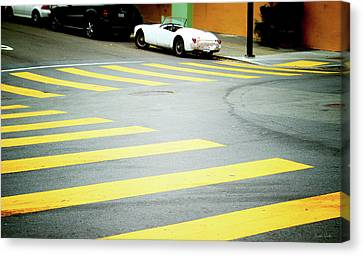 Parking Canvas Print - Outside The Lines- By Linda Woods by Linda Woods