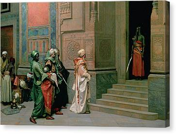 Outside The Palace Canvas Print by Ludwig Deutsch