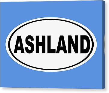 Canvas Print featuring the photograph Oval Ashland Oregon Or Ohio Home Pride by Keith Webber Jr