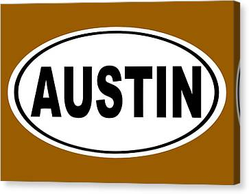 Canvas Print featuring the photograph Oval Austin Texas Home Pride by Keith Webber Jr