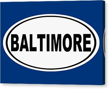 Canvas Print featuring the photograph Oval Baltimore Maryland Home Pride by Keith Webber Jr