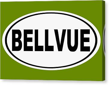 Canvas Print featuring the photograph Oval Bellvue Colorado Home Pride by Keith Webber Jr