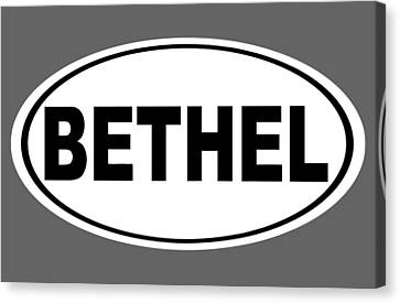 Canvas Print featuring the photograph Oval Bethel Connecticut Home Prid by Keith Webber Jr