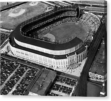 Brooklyn Dodgers Canvas Print - Over 70,000 Fans Jam Yankee Stadium by Everett