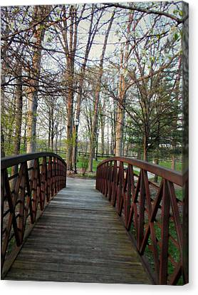 Over The Bridge Canvas Print by Lisa Mesmer