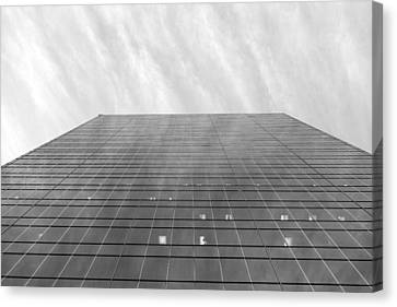 Canvas Print featuring the photograph Over The City by Valentino Visentini