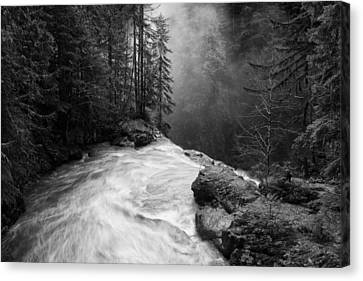 Over The Falls Canvas Print by James K. Papp