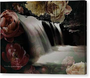 Over The Falls Canvas Print
