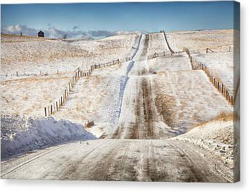 Over The Hill And Far Away Color Canvas Print by Theresa Tahara