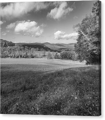 Over The Hills Square Bw Canvas Print by Bill Wakeley