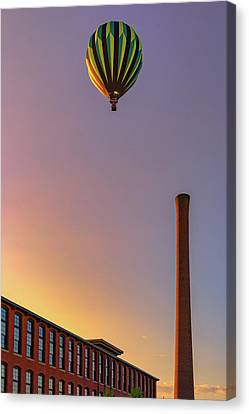 Balloon Festival Canvas Print - Over The Old Mill by Rick Berk