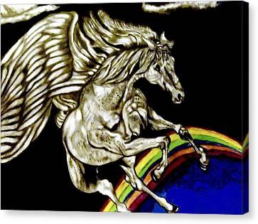Over The Rainbow Canvas Print by Herbert Renard