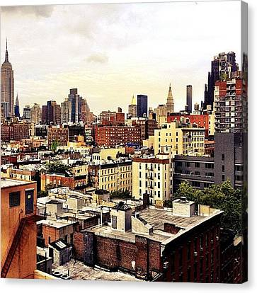 Over The Rooftops Of New York City Canvas Print by Vivienne Gucwa