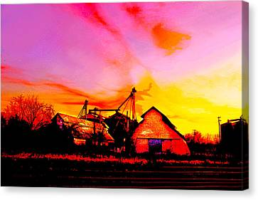 Over The Tracks --somewhere In Texas Canvas Print by Susan Vineyard
