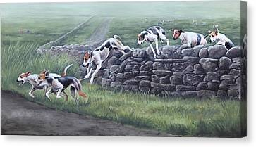 Over The Wall Canvas Print by Barbara Hymer