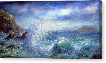 Over The Waves Canvas Print by Ann Marie Bone