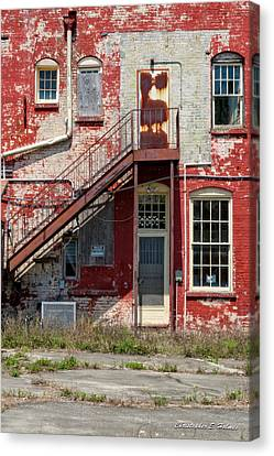 Canvas Print featuring the photograph Over Under The Stairs by Christopher Holmes