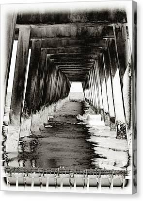 Over Under-tybee Island Canvas Print by Ann Tracy