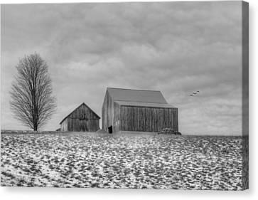 Overcast Bw Canvas Print