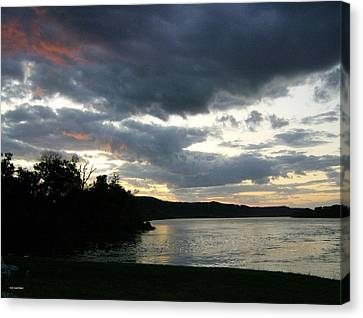 Canvas Print featuring the photograph Overcast Morning Along The River by Skyler Tipton