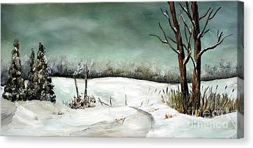 Overcast Winter Day Canvas Print by Anna-Maria Dickinson