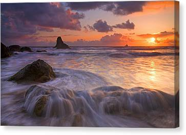 Ocean Canvas Print - Overcome by Mike  Dawson