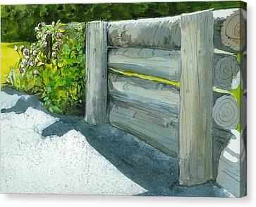 Canvas Print featuring the painting Overcoming The Wall by Lynn Babineau