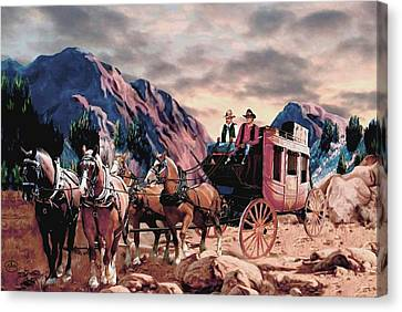Overland Trail Canvas Print by Ron Chambers