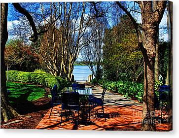 Overlook Cafe Canvas Print by Diana Mary Sharpton