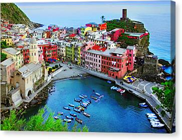 Overlook Vernazza Canvas Print by John Galbo
