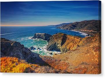 Overlooking Bird Island - Marin Headlands California Canvas Print by Jennifer Rondinelli Reilly - Fine Art Photography