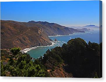 Overlooking Marin Headlands Canvas Print by Michiale Schneider