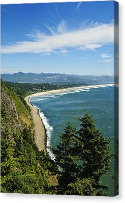 Overlooking Nehalem Bay Canvas Print by Greg Vaughn - Printscapes