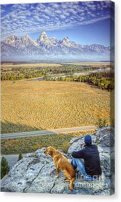 Overlooking The Grand Tetons Jackson Hole Canvas Print by Dustin K Ryan